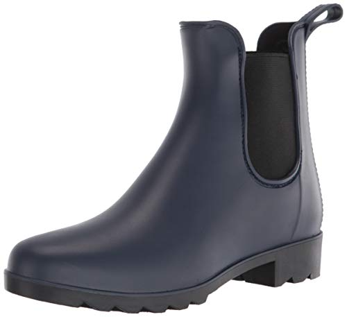 Amazon Essentials Women's Double Gore Rainboot Rain Boot, Navy, 9 B US
