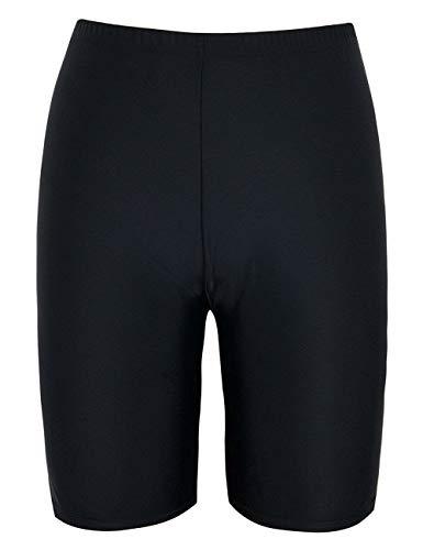 Firpearl Women Plus Size Swim Shorts UV Sport Board Shorts Swimsuit Bottom Tankini US26 Black
