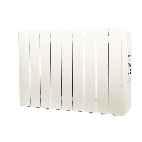 farho Radiador Electrico Eco Green 990W (9) · Emisor Termico con Termostato Digital Programable 24/7 · Radiadores Electricos Bajo Consumo para Estancias de hasta 15 m² · 20 AÑOS DE GARANTÍA
