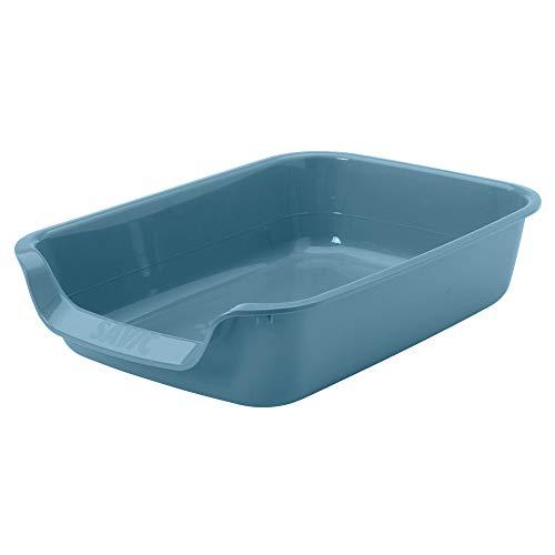 Savic - Junior Wurfkiste blau. 56 x 39 x 13 cm. für Katze und Welpe. - VA-14540
