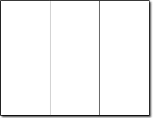 65lb Bright White Tri-fold Brochure Paper - 3 Panel Brochures for Inkjet/Laser Printers - 250 Brochures