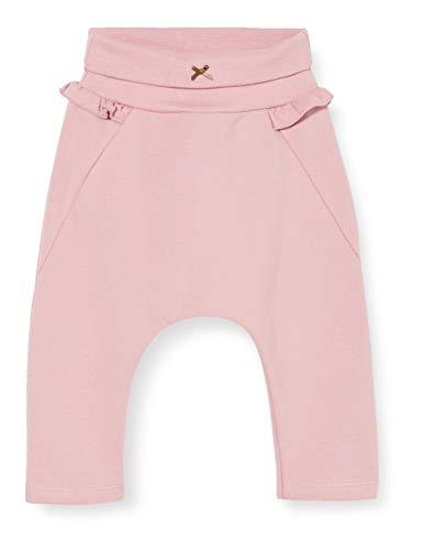 Sanetta Baby-Mädchen Dark Rose Hübsche Hose Fiftyseven in Rosa mit verspielten Rüschen, 080