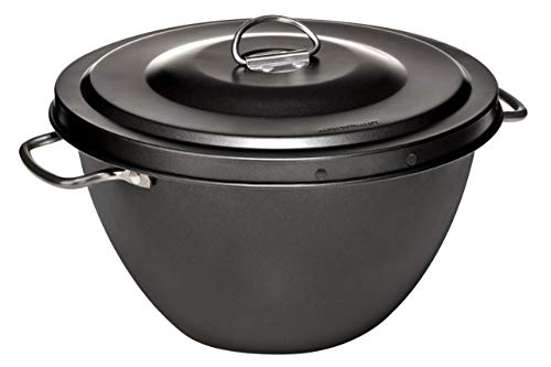 Premier Housewares Pudding Steamer, Kohlenstoffstahl, Silikon Antihaftbeschichtung, 2 ltr