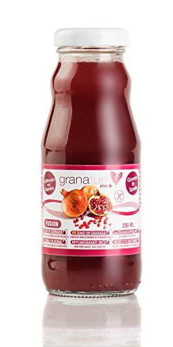Zumo de Granada Exprimido - 24 Botellas de 200ml   Zumo 100% Natural de Alta Absorción   Extraído 100% Granadas exprimidas   Vegano   Origen España