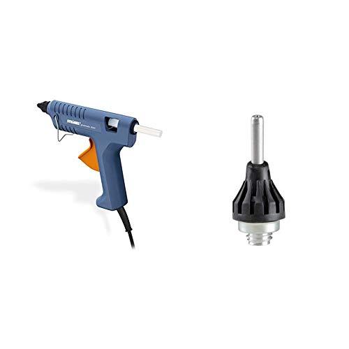 Steinel Heißklebe-Pistole Gluematic 3002, Förderleistung 16 g/min, Inkl. 3 Klebesticks 11 mm, zum Basteln und Reparieren & Feindüse 1.0 mm, als Zubehör für Heißklebepistole Gluematic 3002 und 5000