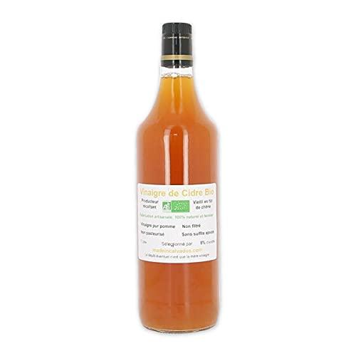Vinaigre de cidre bio non pasteurisé vieilli en fût de chêne 1L - Made in Calvados