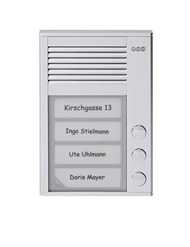 Auerswald TFS-Dialog 203,Türsprechstelle 3Taster Für A/B aluminium