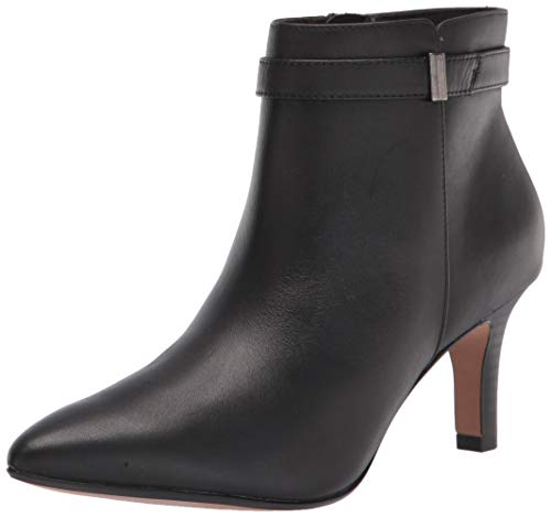 Clarks Women's Illeana Calla Ankle Boot, Black Leather, 8