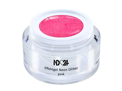 Uv Led Effekt-Gel Classic Glitter Neon Pink - Pink - Studio Qualität - Made In Germany - 5ml