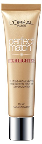 L'Oreal Paris Highlighter Make-Up Foundation Perfect Match 101.W Golden Glow, 1 Stück