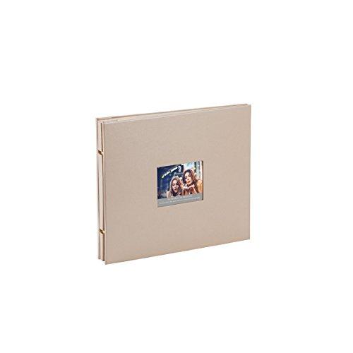 Rössler 12297146004 - Memories Buchschraubenalbum mit Gelenk, 280 x 240 mm, Taupe (metallic), 15 Blatt, 1 Stück