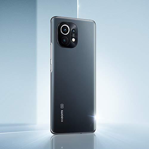 """Xiaomi Mi 11 5G - Smartphone 8 GB + 128 GB, display WQHD+ AMOLED da 6,81"""", Snapdragon 888, Tripla Fotocamera 108MP+13MP+5MP, batteria da 4600mAh, NFC, Gray (Versione Italiana+2 Anni di Garanzia)"""