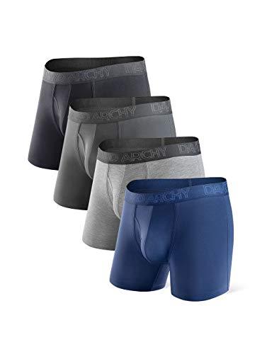 DAVID ARCHY Herren Unterwäsche Atmungsaktive Boxershorts Bambus Rayon Trunks im 3er oder 4er Pack - - Medium