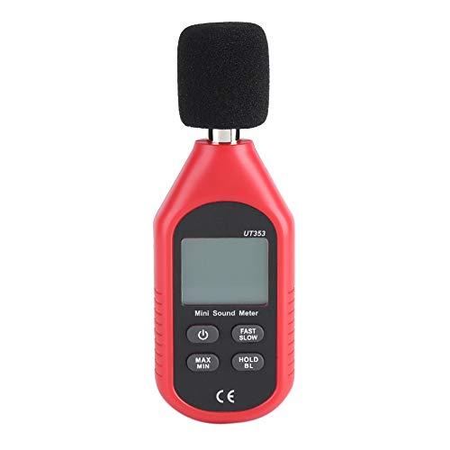 Medidor de Sonido, Mini medidor de Nivel de Sonido Digital Herramienta de probador de monitoreo de decibelios de Ruido