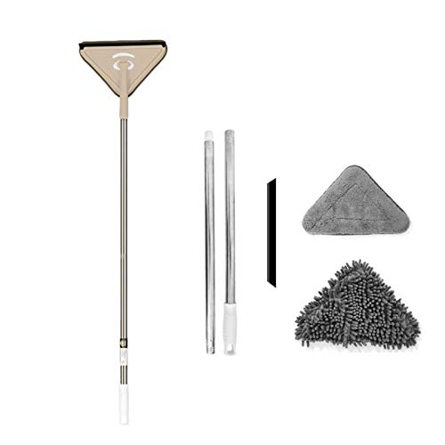 Cleaning Mop,Microfiber Chenille Self Dust Triangle Cleaning Mop For Window Car、Tile Floor、Hardwood,Deep Clean Push Broom