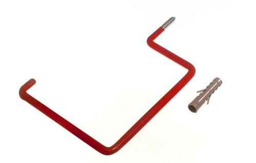 Lot de 20 Rouge mur Utility Crochet de rangement avec chevilles