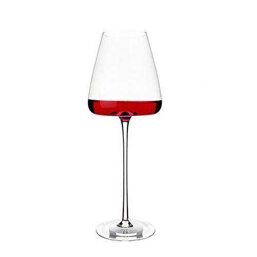 Copas de vino blanco o tinto soplado a mano, sin plomo, vidrio transparente de alta calidad, 25 onzas (tamaño: 650 ml)