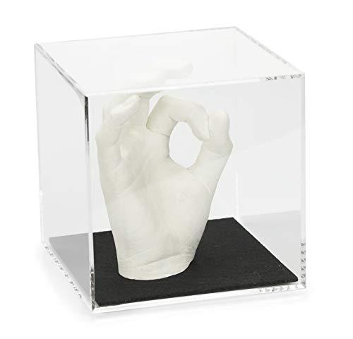 Lucky Hands Acrylglaswürfel mit/ohne Filzboden | Verschiedene Größen | ohne individuelle Beschriftung | Plexiglas (12 x 12 x 12 cm, Schwarz)