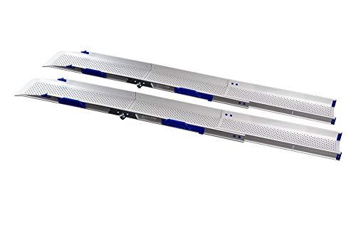 Extra Breite Rollstuhlrampe klappbar und teleskopierbar (3000mm lang)