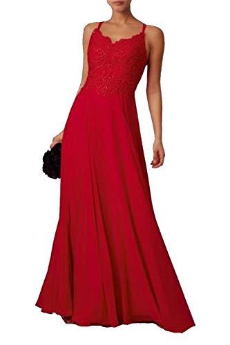 Mascara Rot Mc186099 Spitze DoppelRiemen Prom Kleid 30