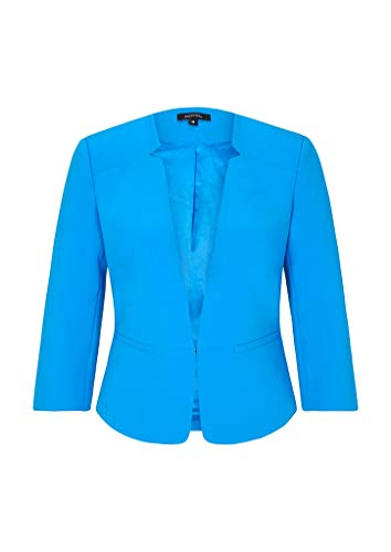 comma Damen Kurzer Blazer im cleanen Look Horizon Blue 40