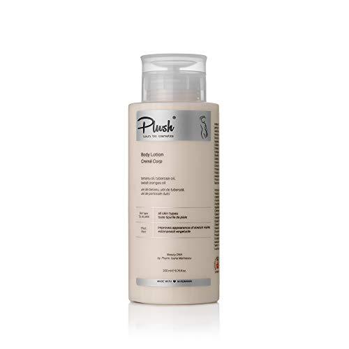 Plush luxuryBIOcosmetics - Bodycrème tegen striae - tamanu-olie, tuberoosolie, extracten van zoete sinaasappelolie - remt striae - huidtypes: alle (300 ml)