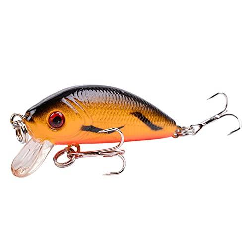1 unids Minnow Fishing Lure 50mm 4.2g Topwater Hard Bait Wobbler Jig Bait Crankbait Carpa Rayas Bass Pesca Tackle Switebait (Color : F, Size : 50mm)