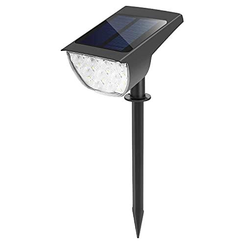 ソーラーライト 屋外ウォールランプ 30LED 埋め込み式 ガーデンライト 防水 防犯 照明 外灯 LED MCH-A073-BK