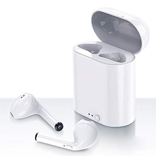 Breakthecocoon Auriculares estéreo mini auriculares inalámbricos (color I7s mini blanco)