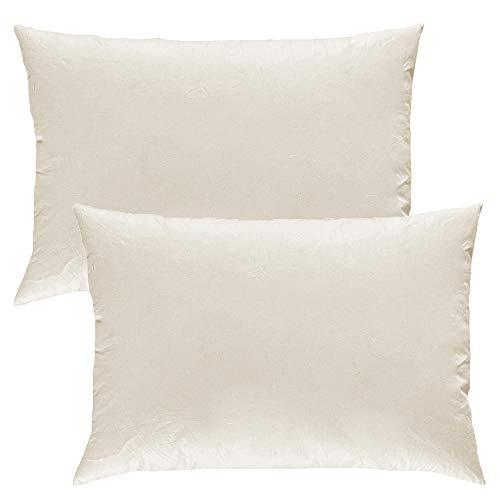 MACK - Basic Kissen Set mit Federfüllung | Federkissen für einen erholsamen Schlaf | 40x60 cm - 2er Set