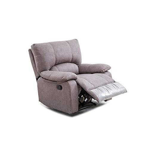 Shiito - Sillón reclinable con función Relax Manual, reclinable hasta 180º, Modelo Dafne Color Gris