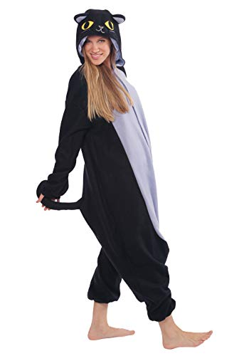 Spooky Black Cat Kigurumi - Japanese Sazac Cosplay Costume Pajamas [Toy] (japan import)
