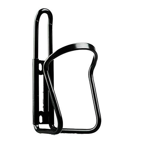 Nigoz - Soporte de aleación de aluminio duradero para biberones de bicicleta, soporte para tazas, bandeja para bicicletas de montaña, bicicletas, silla de ruedas, color negro