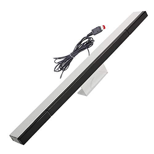 Barra de sensor Wii, barra de sensor de rayos infrarrojos de repuesto para Nintendo Wii y Wii U consola