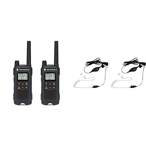Best Review Of Motorola Talkabout T460 Rechargeable Two-Way Radio Pair (Dark Blue) Bundle with Motor...