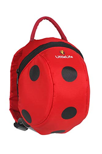 LittleLife Toddler Backpack Ladybird with Safety Reins