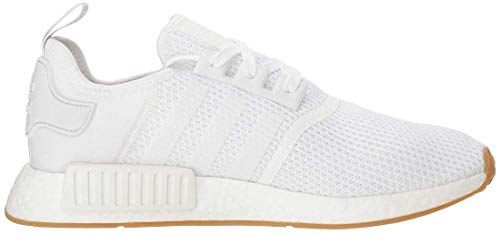 adidas Originals mens Nmd_r1 Shoe, White/White/Gum, 11.5 US