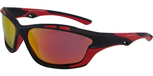 OZZIE sonnenbrille Sport polarisiert schwarz/rot (14:36 P7)