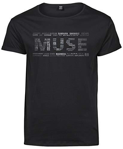 Premium Camiseta T-Shirt Roll-Up Hombre Muse Multitext - T-shirtLaMAGLIERIA
