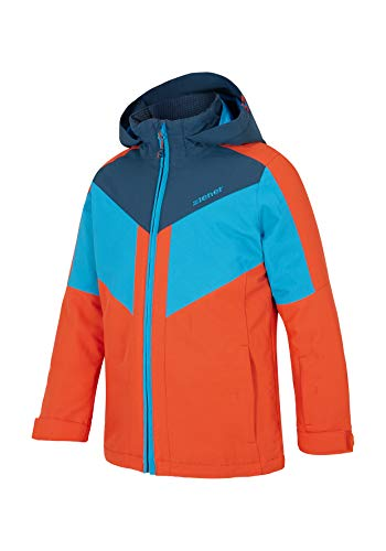 Ziener Kinder ARKO Jacke, orange Spice, 116