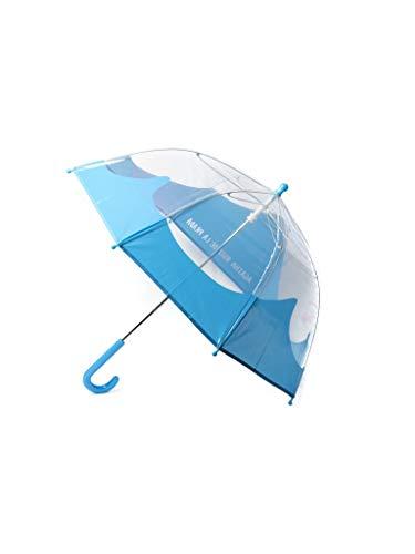 Paraguas para niños y niñas Agatha Ruiz de la Prada – Paraguas de nube transparente, Compacto, ligero, plegable , transparente, sombrillas para la lluvia - Azul