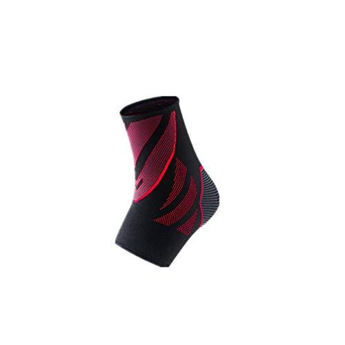LIOOBO soporte de tobillo deportivo nylon silicona tejido de punto elástico transpirable tobillera manga de tobillo para ejercicio baloncesto correr