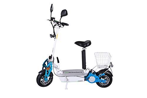 4MOVE - Patinete eléctrico 1800W 48 V con permiso de circulación y turbo, plegable, scooter eléctrico, foco LED, frenos de disco, patinete eléctrico plegable para adultos, blanco
