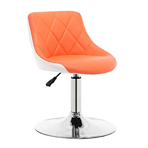 Swivel Barhocker für Küchen Hochstuhl PU-Sitz Rückenlehne Stuhl speist Einstellbare Höhe Küche Frühstück Bar Büro Größe: 39-51cm