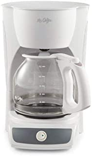 Mr. Coffee 12-Cup Coffee Maker, Black (White (CG12))