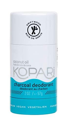 Kopari Mens Aluminum-Free Deodorant, Non-Toxic, Paraben Free, Cruelty Free, Baking Soda Free & Gluten Free Natural Deodorant - Made with Organic Coconut Oil, Charcoal, 2.0 oz