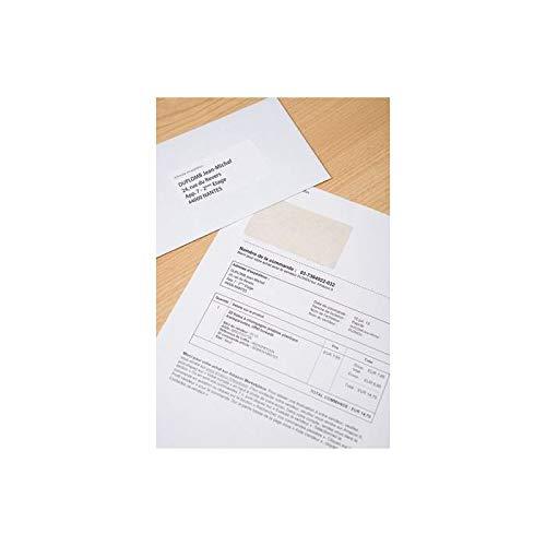 AVERY Lot de 3 STICK'NGOs - 500 feuilles de papier avec étiquette intégrée pour facturation via Seller central Amazon - Etiquette adresse longue