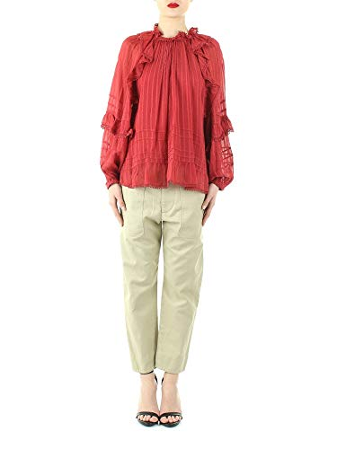 Luxury Fashion   Isabel Marant Étoile Dames HT159820P031E11RU Rood Viscose Blouses   Lente-zomer 20