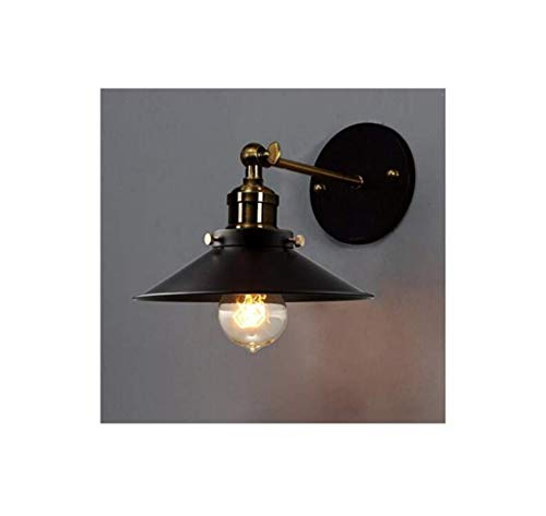 Wandlamp Industrie Light 1 licht in zwart
