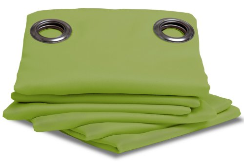 Ideenreich 2050 - Tenda oscurante spessa 260 x 145 cm, colore: Verde mela